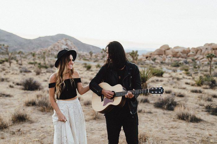 Kinsey & Josh & Banjo Photographer in Joshuatree