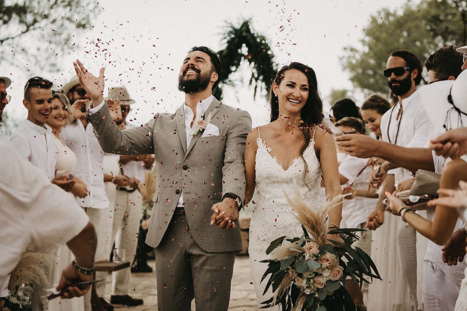 ibiza wedding bride and groom after the ceremony